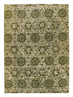 MAT Orange Baltimore Area Rug - Green