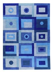 Mat The Basics Berlin Area Rug - Blue