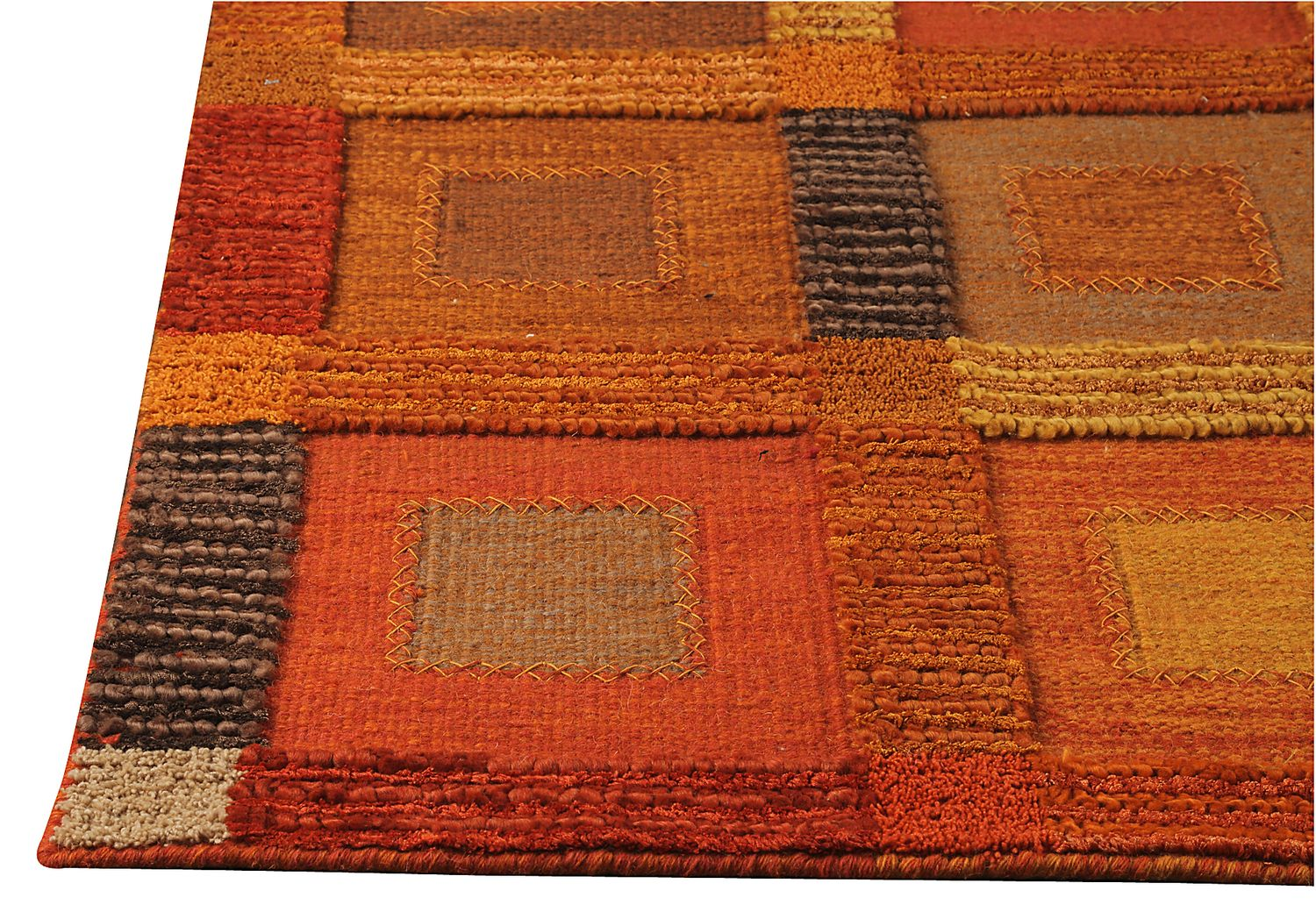Mat The Basics Box Area Rug Orange