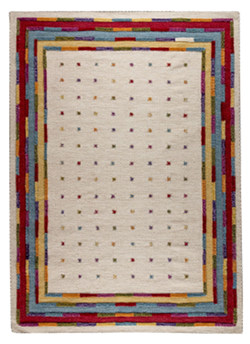 MAT The Basics Khema6 Area Rug - White Multi
