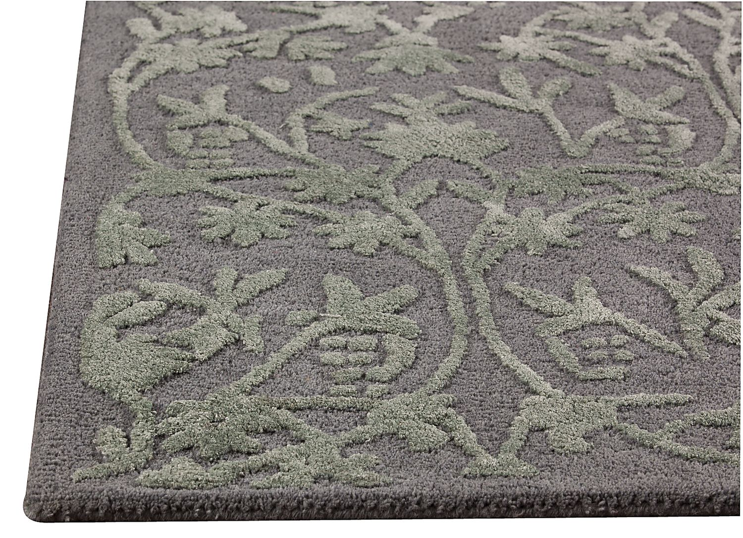 Mat The Basics Santoor Area Rug Grey