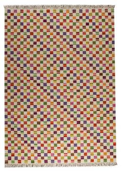 MAT The Basics Small Box Area Rug - White Multi