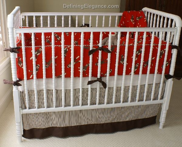 Uuu Maddie Boo Sock Monkey Baby Bedding