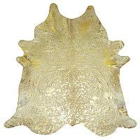 Muriel Kay Gold Metallic on White Cowhide
