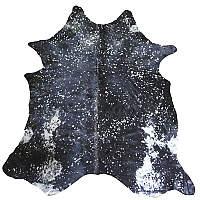 Muriel Kay Silver Metallic on Black Cowhide