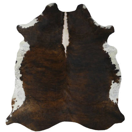 Muriel Kay Dark Tri-Color Brindle Natural Cowhide