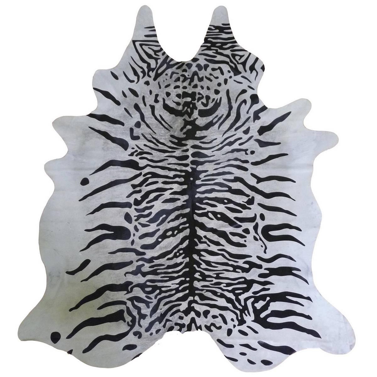Muriel Kay Jawa Tiger White Stenciled Cowhide