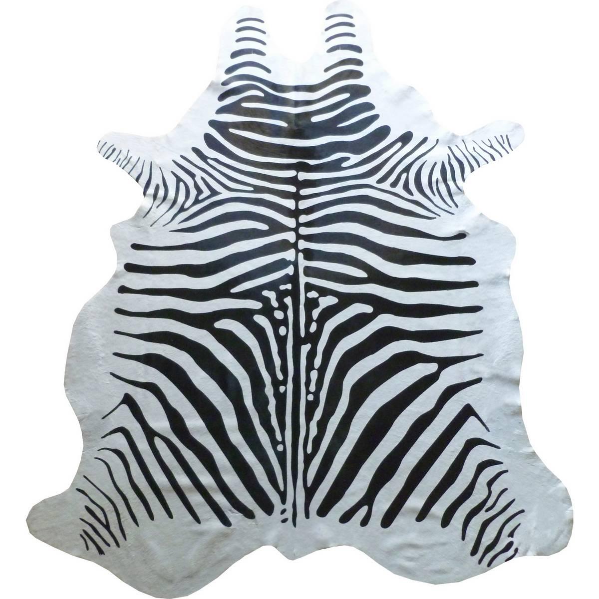 Muriel Kay Zebra Original Stenciled Cowhide