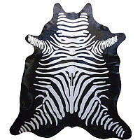 Muriel Kay Reverse Zebra Stenciled Cowhide