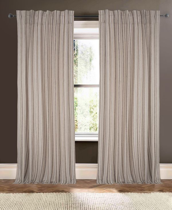 Available on DefiningElegance.com - luxurious Muriel Kay Augustine Drapery Panels created with Linen in Natural.
