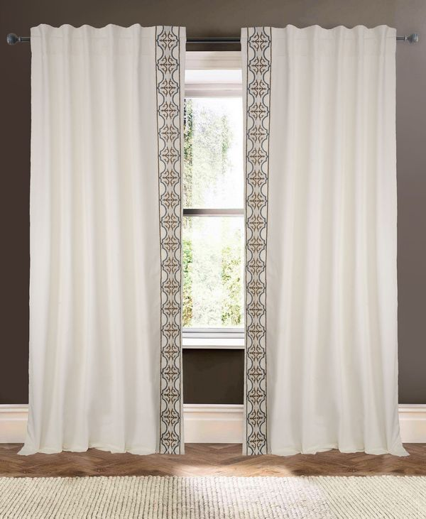 Available on DefiningElegance.com - luxurious Muriel Kay Camarillo Drapery Panels created with Cotton/Linen Blend in Ivory.