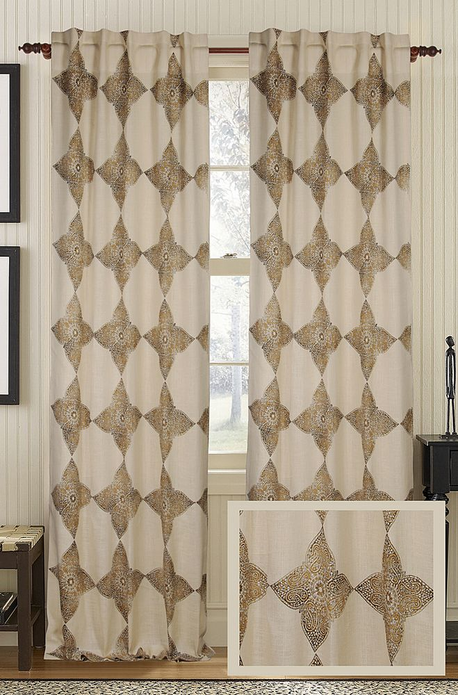 embroidered dp curtain amazon efsch com chai silk half price drapes faux