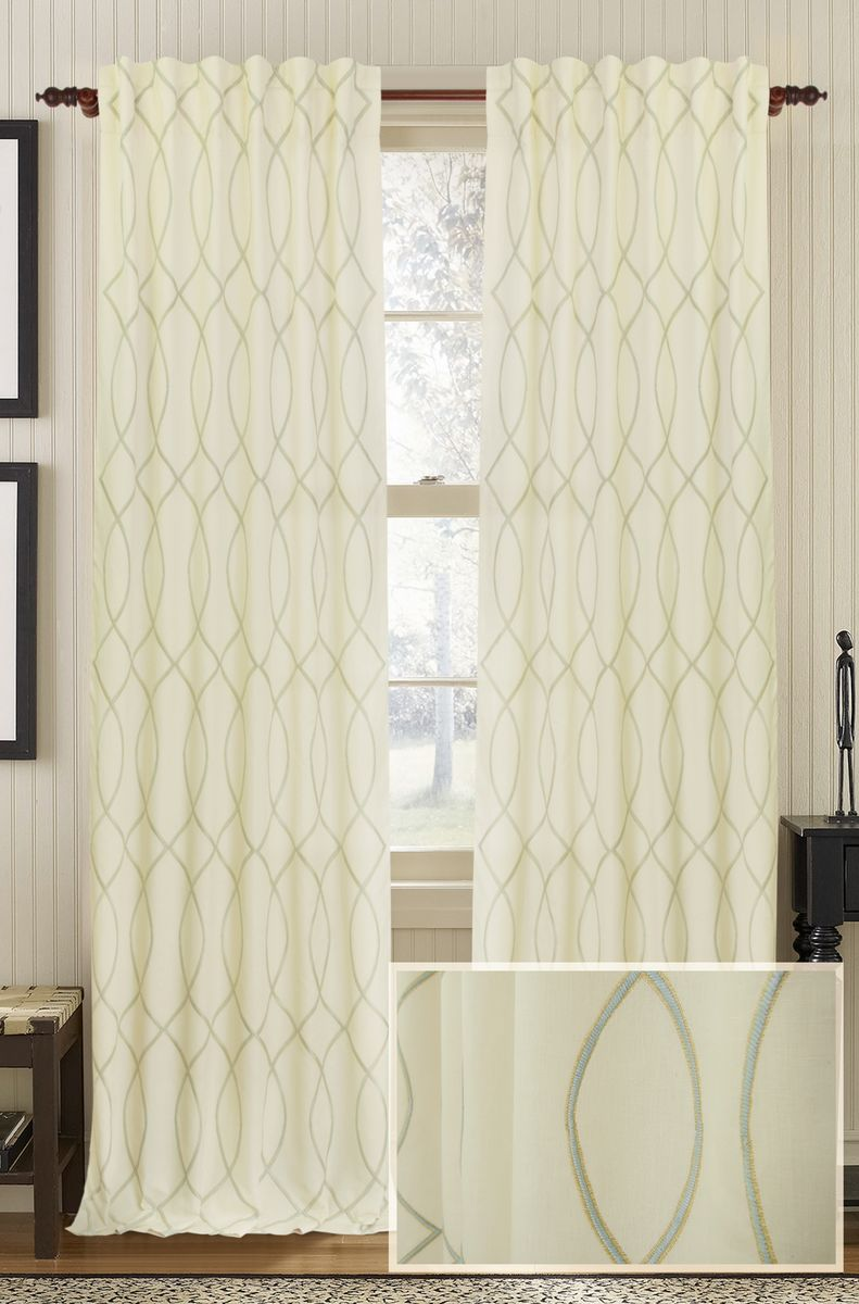 treatment ruffled panels curtains sheer panel window cascade v ivory curtain p voile