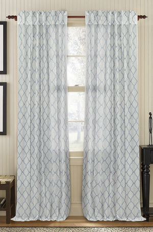 Available on DefiningElegance.com - luxurious Muriel Kay Glority Sheer Drapery Panels created with 100% Cotton Organdy - ivory color.