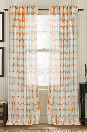 Available on DefiningElegance.com - luxurious Muriel Kay Tarn Sheer Drapery Panels created with 100% Cotton Organdy In seed pearl color.