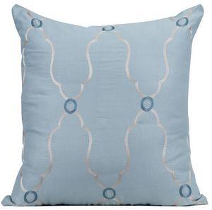Muriel Kay Viola Cotton Organdy Dec Pillow.