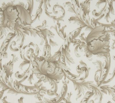 Nancy Koltes Linens Acanthus Printed Cotton Sateen Duvet