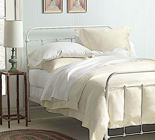 Nancy Koltes - Bruges Linen Duvet & Shams & Bedskirts