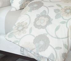 Nancy Koltes Gramercy Bedding.