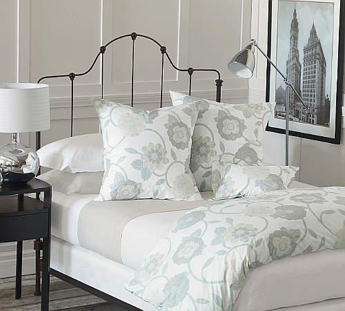 Gramercy Duvet & Shams Pillows by Nancy Koltes Fine Italian Linens.