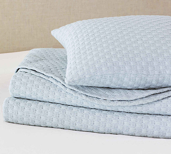 Nancy Koltes Linens Lisbon Cotton Coverlet & Shams