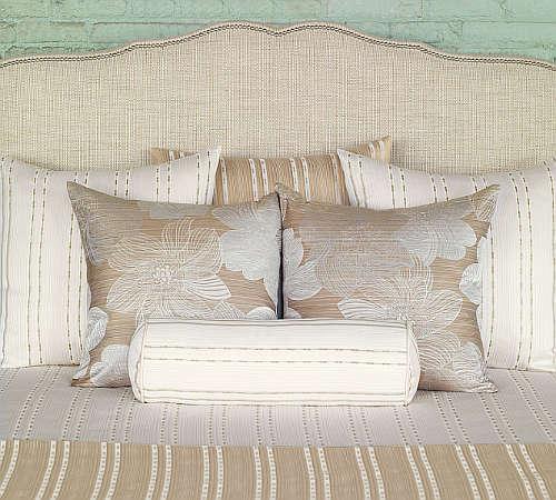 Madison Coverlet & Shams by Nancy Koltes Fine Italian Linens.