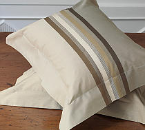Nancy Koltes Princeton Bedding is available in Natural.