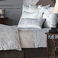 For your convenience, Nancy has taken the guess work out of selecting pieces that will work together by creating this bedding ensemble.