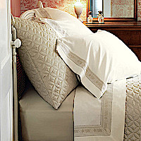 Nancy Koltes Rivoli Bedding Ensemble - Savoy Coverlet & Sham