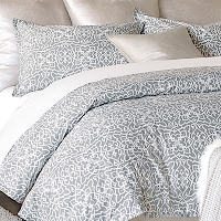 """Nancy Koltes Fine Italian Linens - San Marco bedding is available as a duvet, shams, and luxurious yardage."