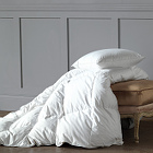 Nancy Koltes Torino Polish White Goose Down Comforters & Pillows