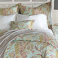 Nancy Koltes Toulouse Bedding - a beautiful paisley with 200 thread count percale print.