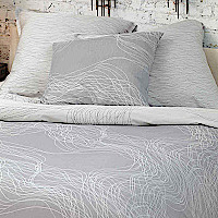 Nancy Koltes Tribeca bedding ensemble featuring Allegro duvet.