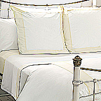 Nancy Koltes Fine Italian Linens - Vendome bedding is available as a duvet, shams, bed sheets.