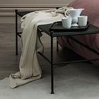Nina Ricci Maison Bedding throw made of 100% cashmere lisle yarn using traditional textile manufacturing methods.