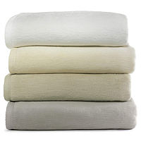 Peacock Alley All Seasons Blankets are remarkably plush blankets that are made from 100% cotton and feature a handsome textured binding. The All-Natural Blanket is completely free of dyes or bleaches for the ultimate natural experience. Machine Washable.