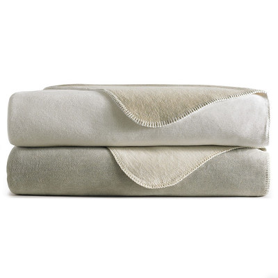Peacock Alley Alta Blancket - soft reversible blanket with whip stitched detail on all sides.