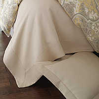 Peacock Alley Angelina Bedding is 100% Egyptian cotton, mercerized finish for ultra-soft feel.