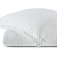 This textured, basket weave design will be your new favorite coverlet.