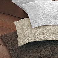 Boutis geometric design. 100% Egyptian Cotton coverlet and shams.