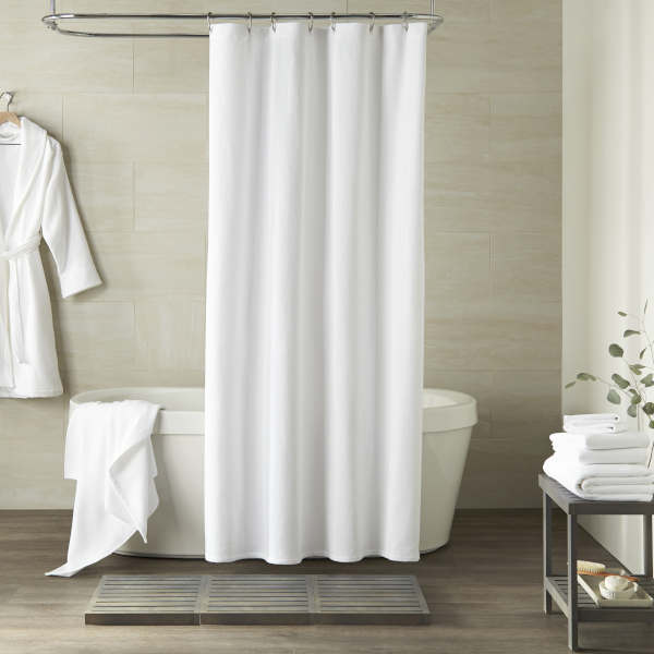 Peacock Alley Spa Bath Towel and Bathrobe - Bath Curtain.