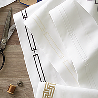 Peacock Alley Stanza Sheeting Swatch