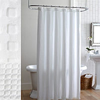 The classic waffle weave is now a shower curtain.