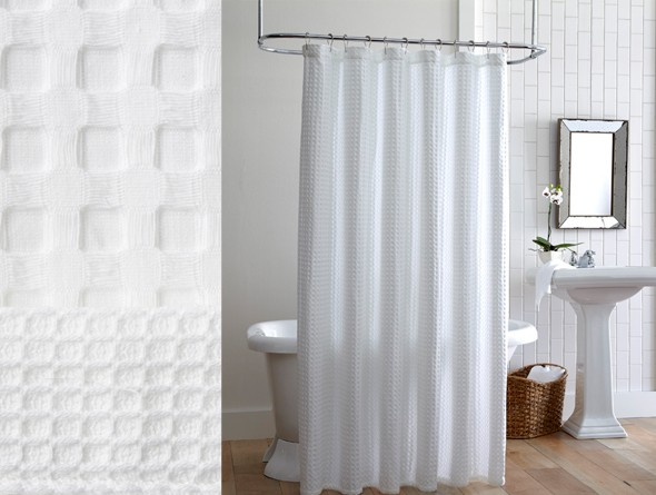Peacock Alley Waffle Shower Curtain