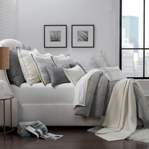 Organic cotton bedding with duvet and shams.