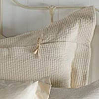 SDH's popular linen/cotton micro stripe from our SDH collection, in natural, un-dyed cotton and linen.