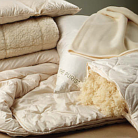 You'll find these comforters in down and wool to have luxuriously plush qualities like none
