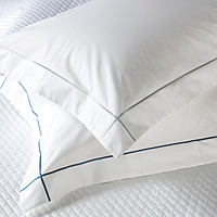 RB Casa Arezzo Percale with Criss-Cross Satin Stitch