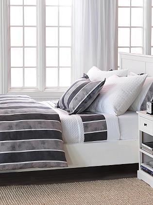 RB Casa Monterey Bedding includes flat sheet, fitted sheet, pillowcase, shams, duvet cover, bed skirt