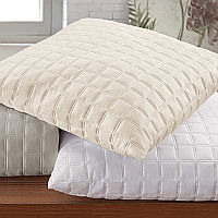 RB Casa Quadro luxury bedding solid quilted sateen available in sham and coverlet.
